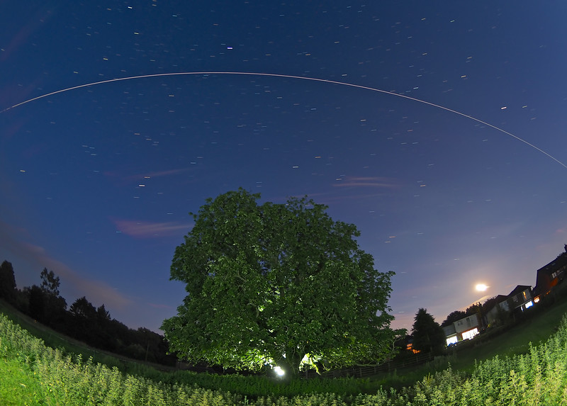Space Station flyby