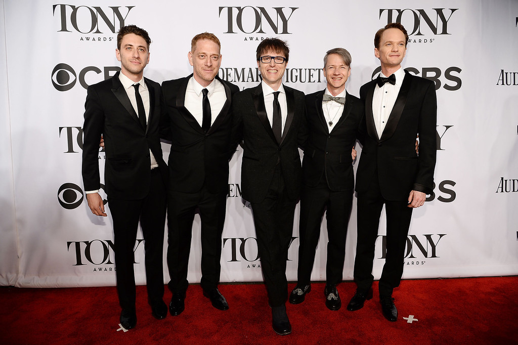 """. Cast and crew of \""""Hedwig and the Angry Inch\"""" attend the 68th Annual Tony Awards at Radio City Music Hall on June 8, 2014 in New York City.  (Photo by Dimitrios Kambouris/Getty Images for Tony Awards Productions)"""