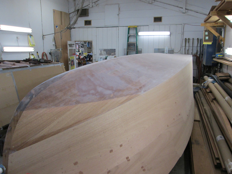 Starboard view of sanded bottom and side.