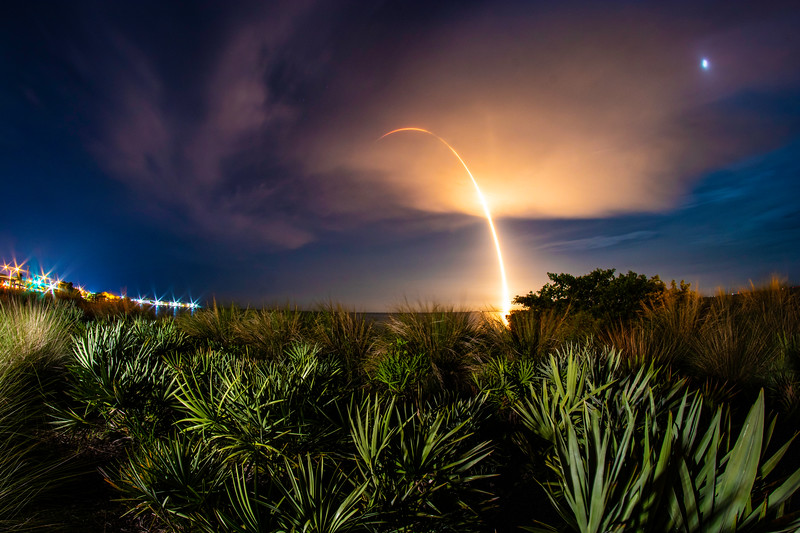 Falcon 9 Bursts Through the Clouds