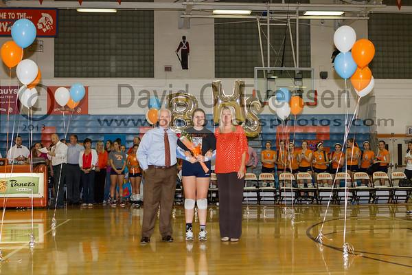 Boone Girls Varsity Volleyball Senior Night - 2013