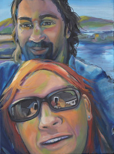 """""""Selfie"""" (acrylic and oil) by Michelle Casale"""