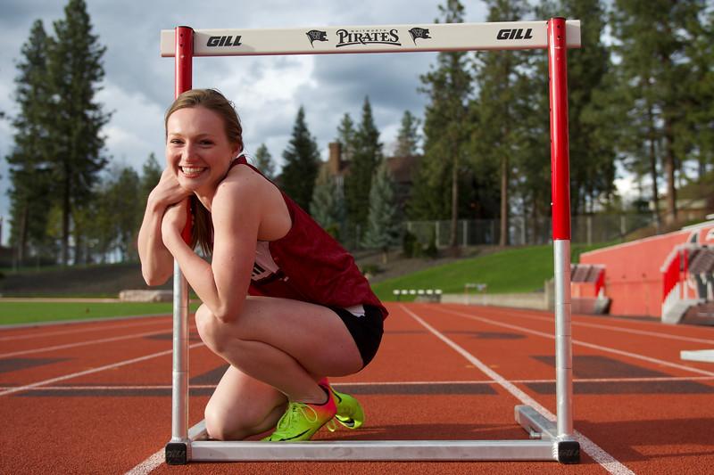 Maggie C. Senior Track Portraits