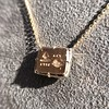 'For You I Live' 18kt Rose Gold Cast Rebus Pendant, by Seal & Scribe 23