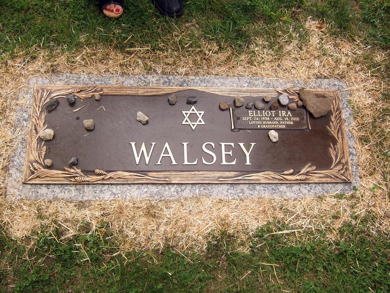 Gravestone - Elliot Walsey gravestone unveiling and luncheon