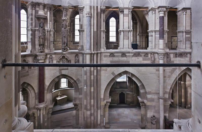 Magdeburg, Dom. Nördliche Wand des Chors vom Bischofsgang