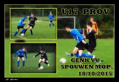 Genker VV  -  Spouwen-Mop.  PROV  U17  18/10/2015