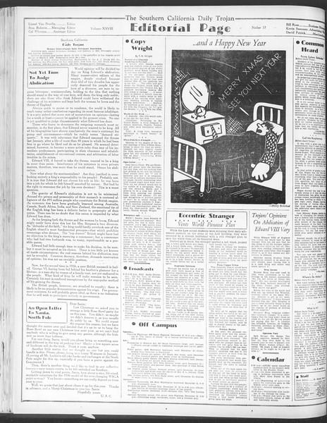 Daily Trojan, Vol. 28, No. 57, December 11, 1936