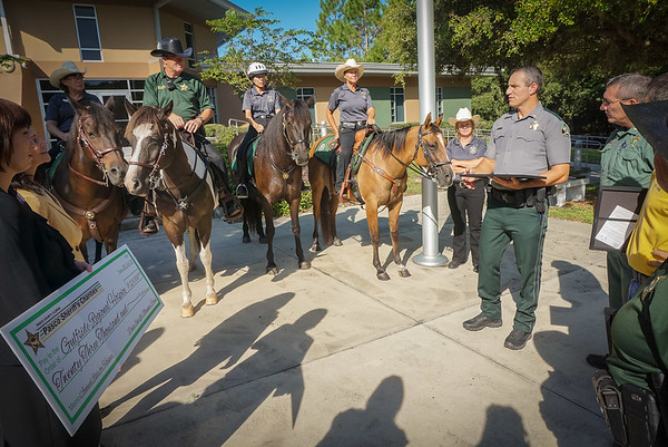 Pasco Sheriff & Mounted Posse Present Check to Gulfside Hospice, 9 2 2015