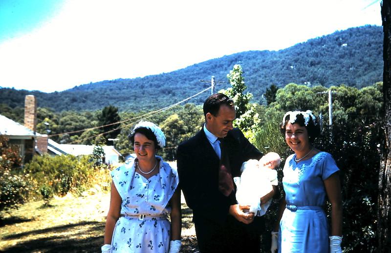 1961-1-15 (18) Mabel, Bruce Heln 6wks & Mary @ Christening.JPG