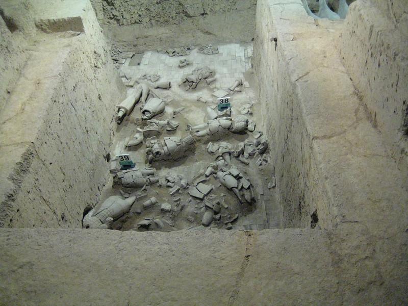 Broken bits of Terracotta warriors outside of Xi'an, China