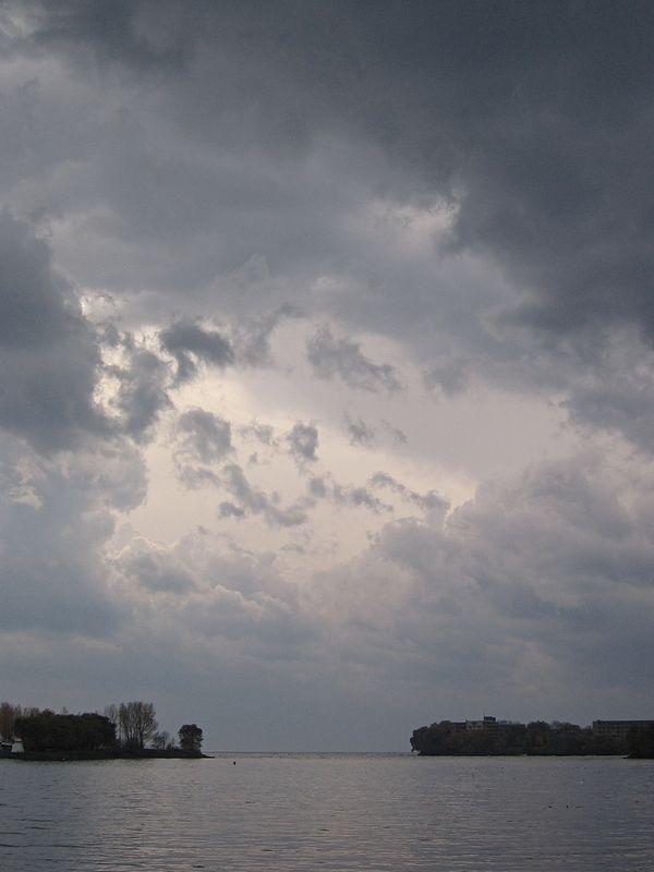 Stormy skies over Mimico Marina