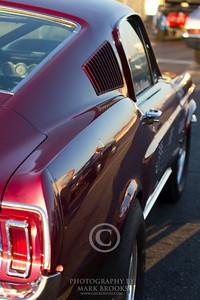Maroon Mustang Fastback
