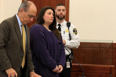 Stephanie Cruz in Worcester District Court, November 8, 2018