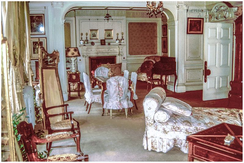 Kinloch Castle interior - Lady Monica's drawing room (1989)