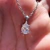 1.11ct Pear Shape Diamond Pendant GIA E VVS2 0