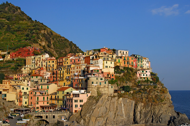 Coastal Village of Manarola in Cinque Terre, Liguria (Italy)