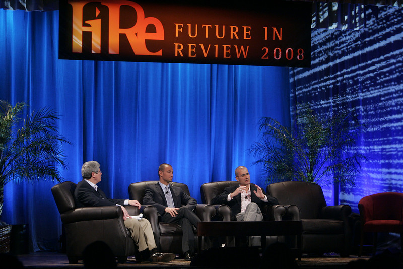 """""""Fixing Healthcare II: Using Technology to Empower the Consumer"""": (L-R) Moderator Doug Smith, Martin's Point Health Care; Roy Schoenberg, CEO, American Well Systems; and Peter Neupert, Corporate VP, Health Solutions Group, Microsoft"""