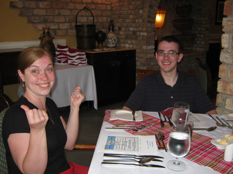 A nice after-wedding dinner at Elenor's restaurant.