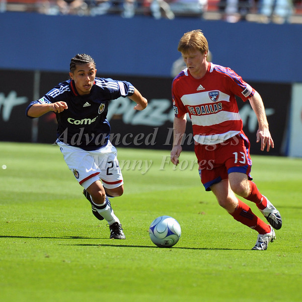 29, March 2009:  FC Dallas midfielder Dax McCarty #13in action during the soccer game between FC Dallas & Chivas USA at the Pizza Hut Stadium in Frisco,TX. Chivas USA  beat FC Dallas 2-0.Manny Flores/Icon SMI