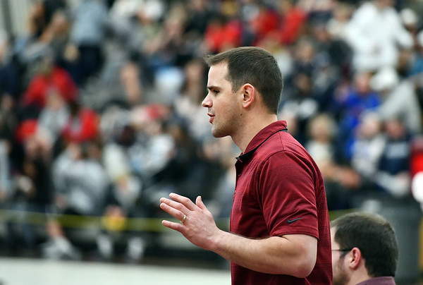 2/22/2020 Mike Orazzi | StaffrBristol Central Matt Boissonneault during the Class L State Wrestling Tournament held at Bristol Central High School on Saturday.