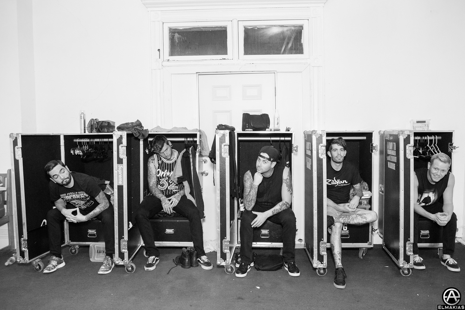 Wardrobe cases with A Day To Remember - Parks and Devastation Tour by Adam Elmakias