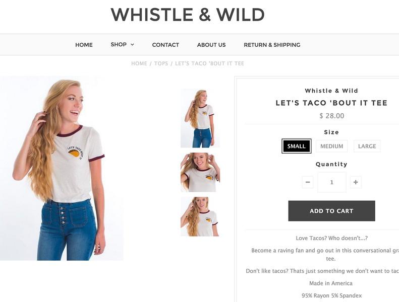 Whistle & Wild online