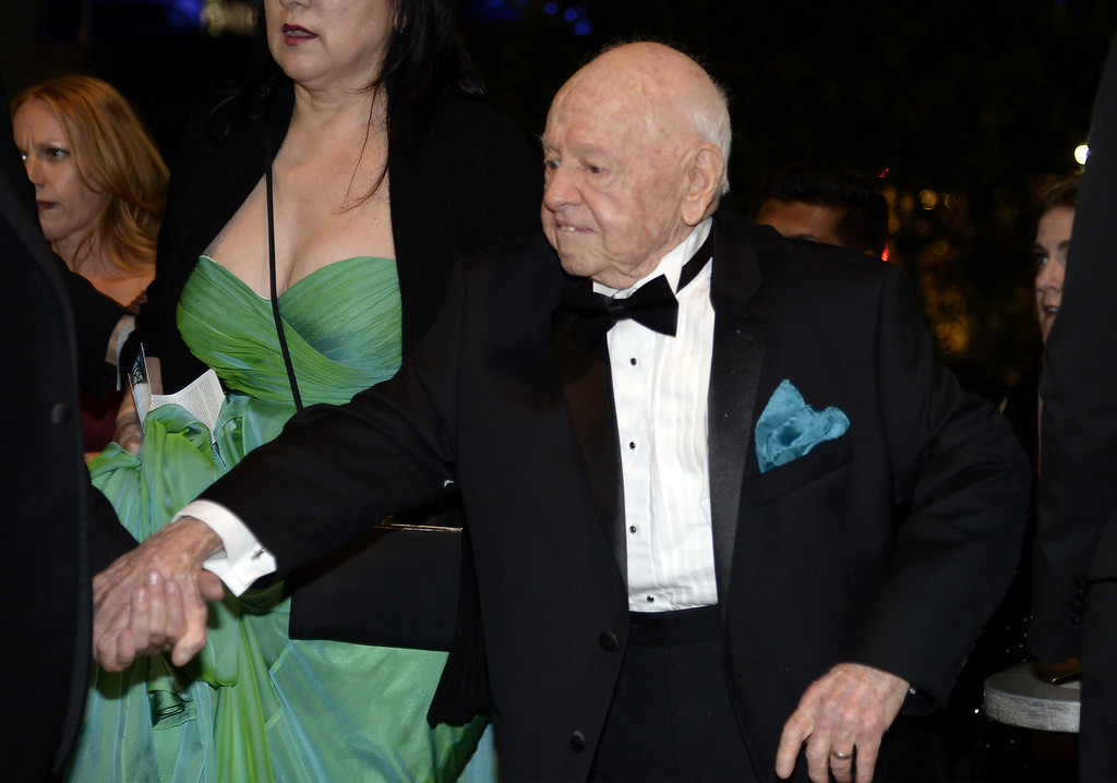 . Actor Mickey Rooney attends the Governors Ball during the 65th Annual Primetime Emmy Awards at Nokia Theatre L.A. Live on September 22, 2013 in Los Angeles, California.  (Photo by Kevork Djansezian/Getty Images)