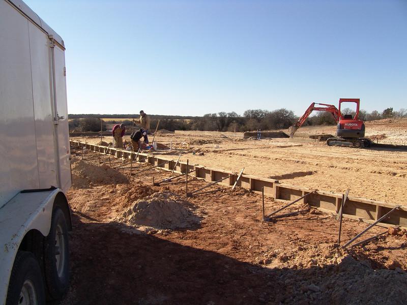 Preparing barn foundation