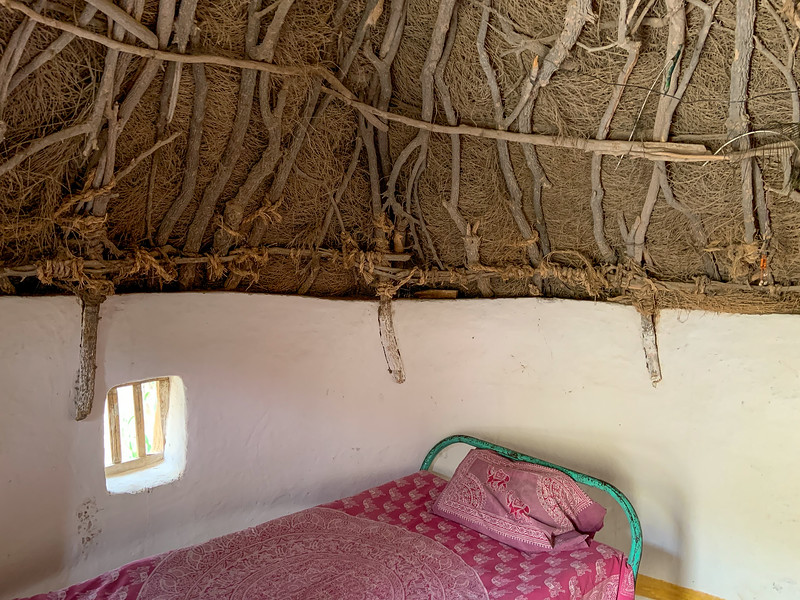 One night sleeping in a hut, followed by a night in the open sky in the desert, no tent.