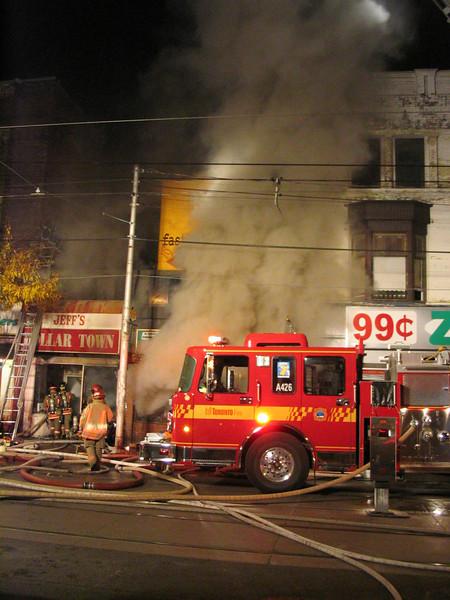 October 27, 2005 - 5th Alarm - 1480 Queen Street West
