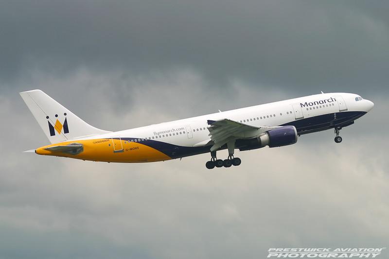 G-MONS. Airbus A300B4-605R. Monarch. Manchester. 170704.