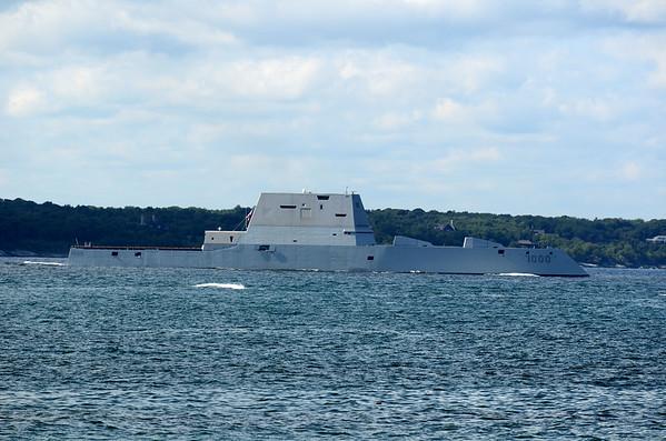 USS Zumwalt DDG-1000 Visits Newport