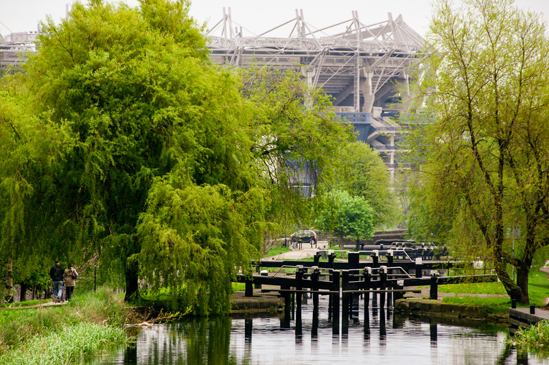 Croke Park and the Royal Canal from the 4th Lock