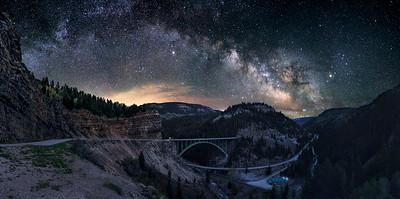 Milkyway over the Red Cliff Bridge, Colorado