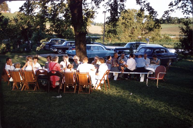 June 20, 1957. Scarvie reunion at Norman's. Slide 232.