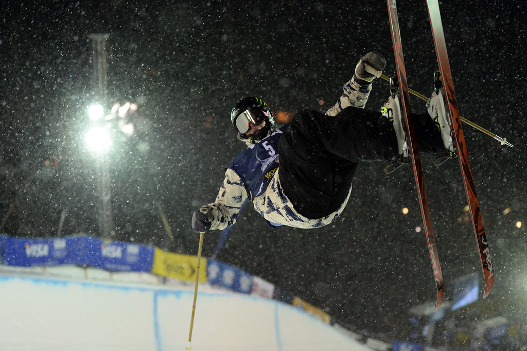 . COPPER MOUNTAIN, CO. DECEMBER 20: Aaron Blunck is in action during the ski halfpipe final U.S. Snowboarding Grand Prix. Copper Mountain, Colorado. December 20. 2013. (Photo by Hyoung Chang/The Denver Post)