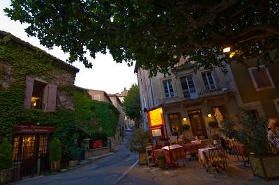 Europe, France, Provence, Gigondas, restaurant