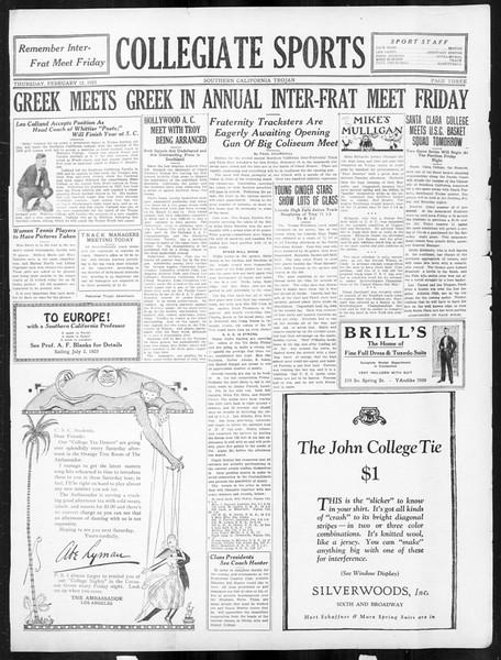 The Southern California Trojan, Vol. 16, No. 48, February 12, 1925