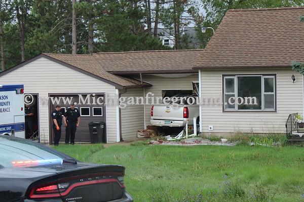 9/6/18 - Leoni Twp car vs. house, 7421 E. Michigan