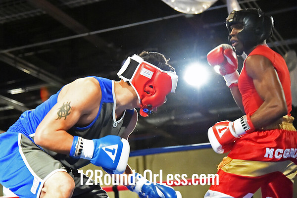 Bout #5  Tracy McGruder, St. Martin BC, Rochester, NY  vs  David Rodriguez, Akron BC, Akron, OH  152 Lbs.