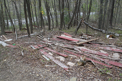 Litter, SR209, just outside Tamaqua, Schuylkill Township (4-28-2012)
