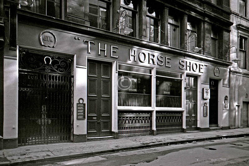 Drury St, south side. Pubs may come and pubs may go, but The Horse Shoe goes on for ever, or let's hope so anyway.  