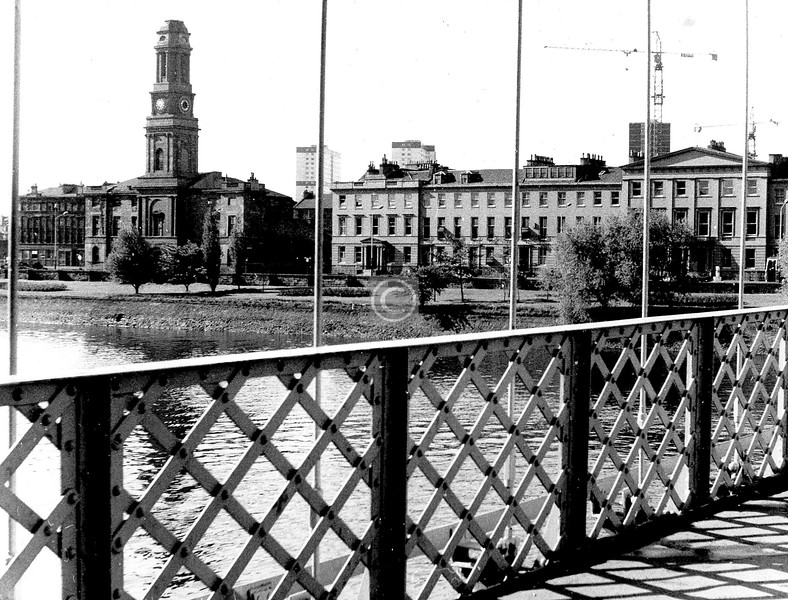 Carlton Place from the Suspension Bridge.    May 1974