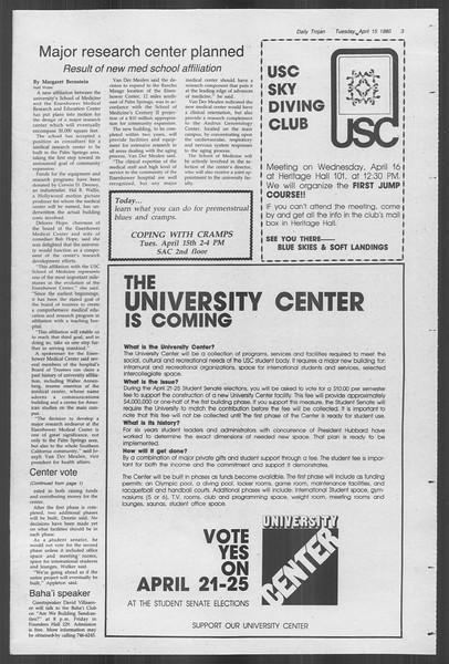 Daily Trojan, Vol. 88, No. 44, April 15, 1980