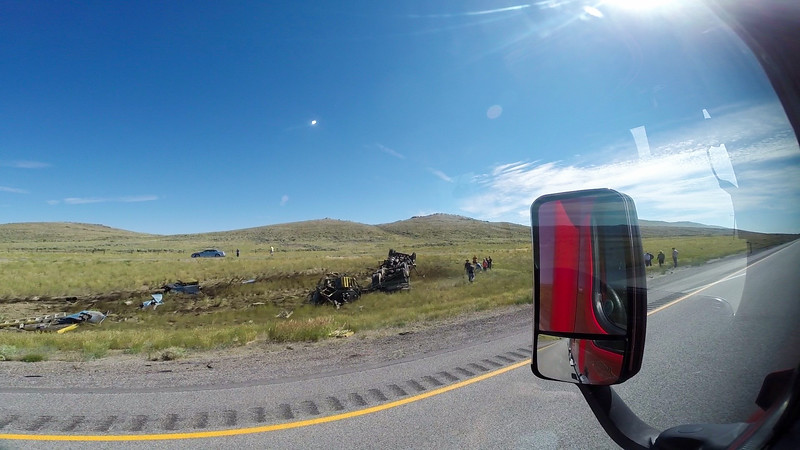 Deadly Crash Scene Near Rawlins, WY