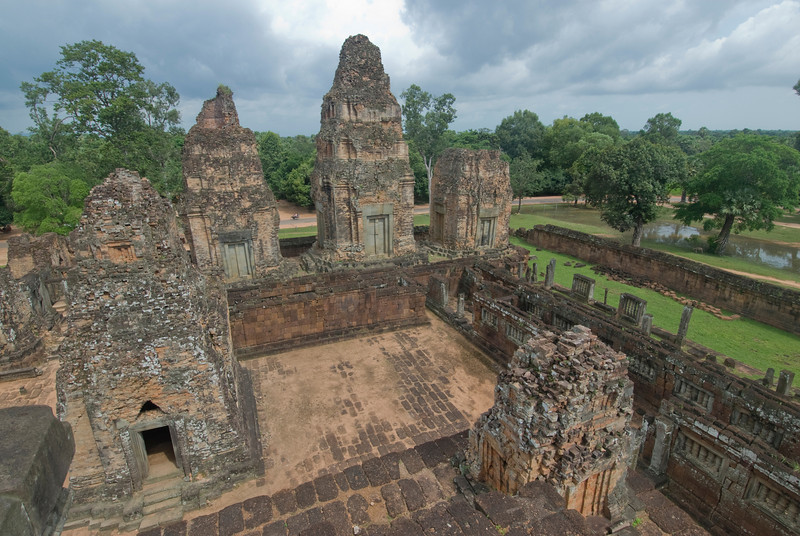 Looking down on Angkor Wat Temple Complex