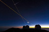 Sunset at Mauna Kea Sunset/Keck Observatory Laser and Meteor