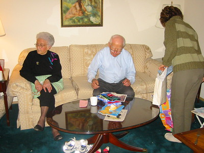 Papa Franks 89th Birthday Party 2003 February