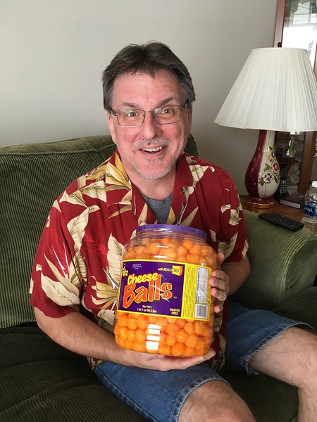 Mike got the cheese balls for all to share!